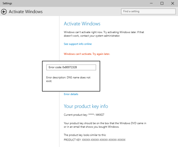 Resolver problemas para activar Windows 10 Preview