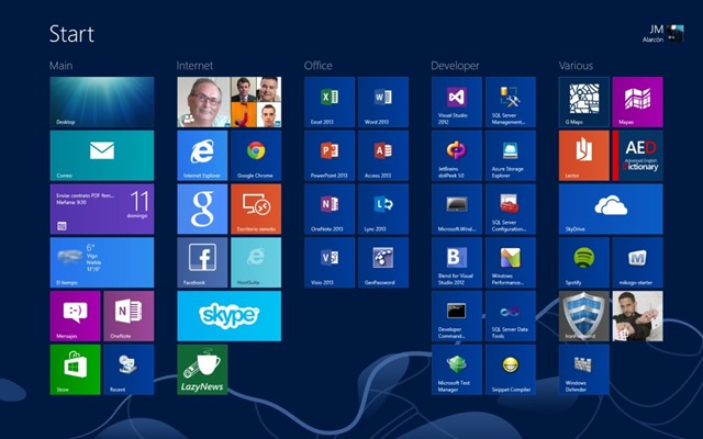 Live Tiles para aplicaciones web en Windows 8
