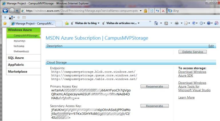 ¿Por qué tenemos dos claves para acceder al almacenamiento de Azure?