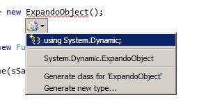 Objetos dinámicos en .NET 4.0: ExpandoObject