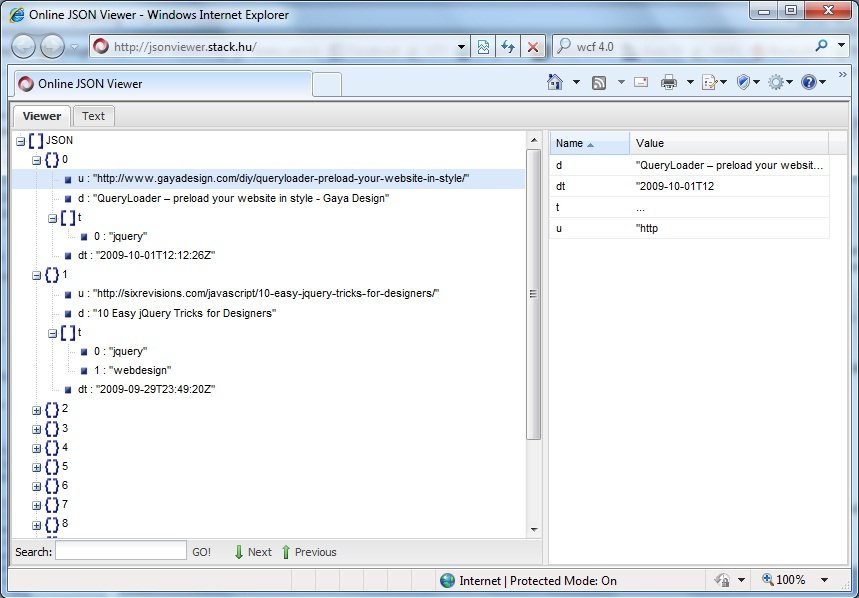 JSONP (II): Soporte desde ASP.NET AJAX 4.0