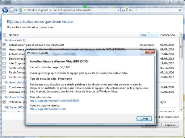La actualización de Windows Vista más inutil de la historia.