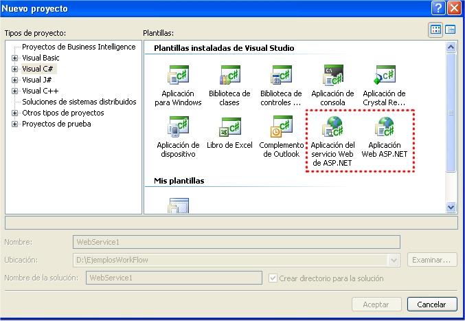 """¿Donde están los proyectos Web """"clásicos"""" en el SP1 de VS2005?"""