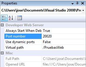 Cómo fijar el puerto del servidor Web de desarrollo