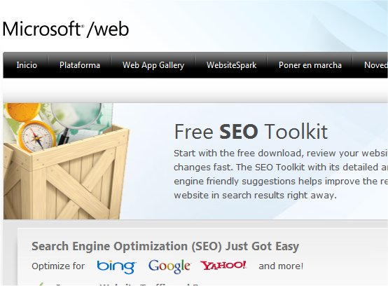 Microsoft Free SEO Toolkit: optimiza tus webs para los buscadores