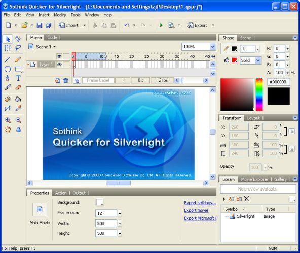 Software gratuito para crear animaciones Silverlight