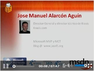 Vídeo en Channel9 en Español: bibliotecas cliente de AJAX y JavaScript en Visual Studio 2008