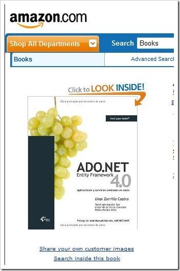 Disponible en todo el mundo el libro de Entity Framework 4.0 de Unai Zorrilla