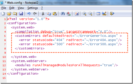 Modo de redirección de errores personalizados en ASP.NET y su impacto en SEO e imagen