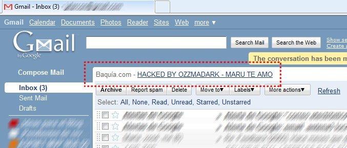 Baquia.com hackeado (o eso parece)