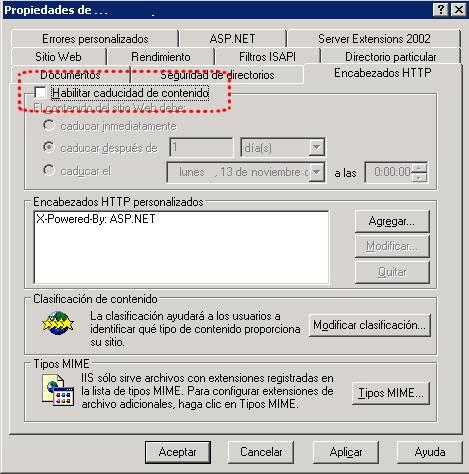 Problemas al descargar archivos desde IIS 6.0 con Internet Explorer