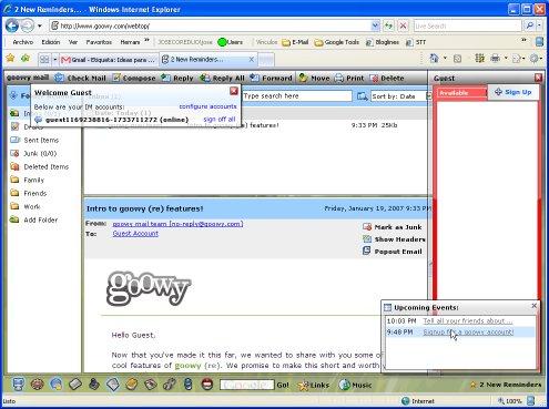 Goowy: uno de los mejores escritorios web que he visto