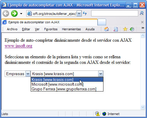 AJAX (III): Funciones para obtener datos